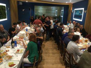 Cena de ponentes en el restaurante Popeye en Chiclana