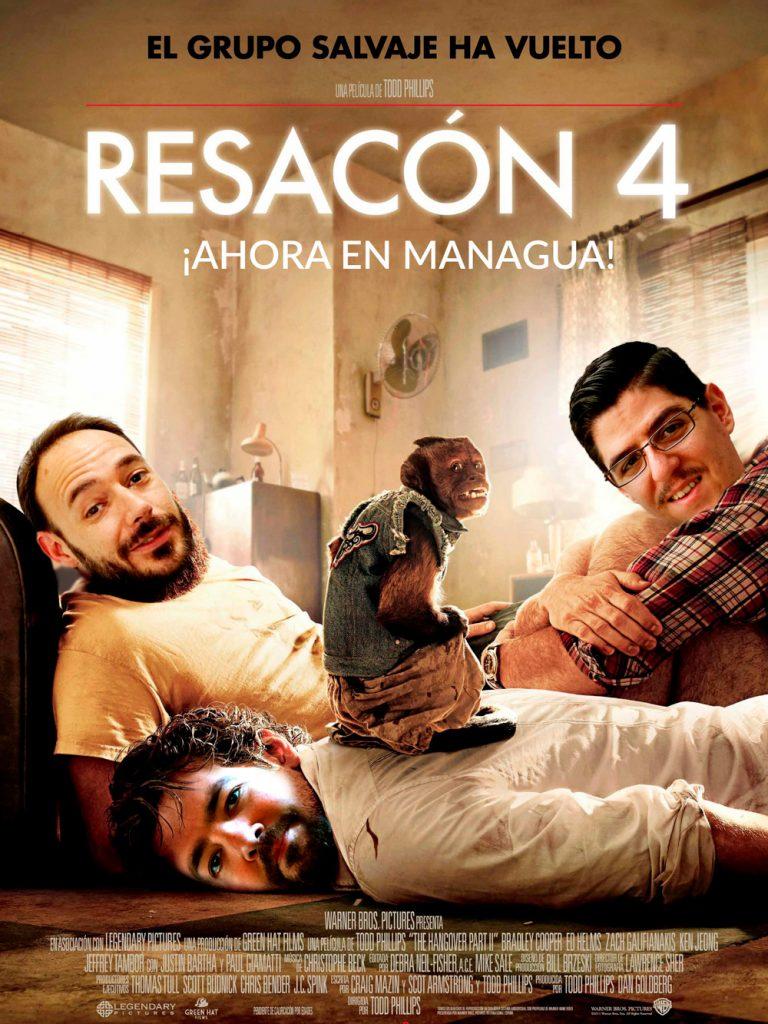 Cartel que hizo Nilo Vélez de Resacón en Managua, que resume rápidamente qué fue lo que ocurrió esa noche.